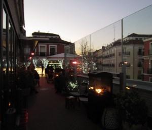 La espectacular terraza
