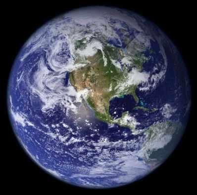 El maravilloso planeta azul: la Tierra (Fuente NASA)