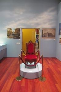 Una silla presidencial de origen real