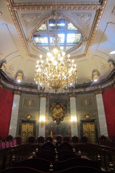 El imperial Salón del Pleno: el lugar ideal para la confesión de Aliapiedi