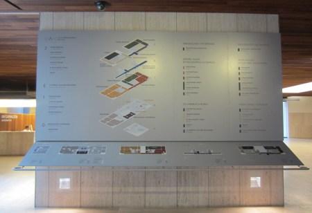 El plano del museo en el moderno y grandioso vestíbulo
