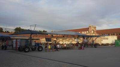 Un ingenioso Escaravox en la plaza Matadero