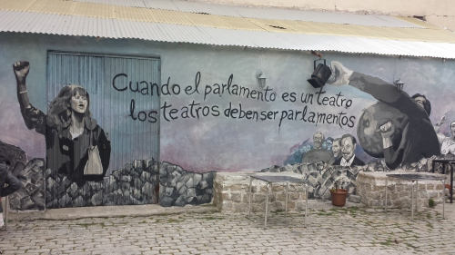 Un genial y reivindicativo grafiti