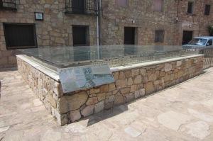 La plaza de San Pedro con el mosáico