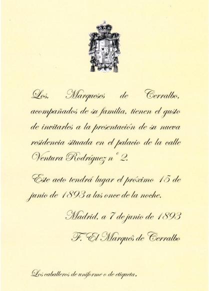 CERRALBO - invitacion